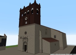 Replica Minecraft of the Church of Revilla del Campo, Burgos, Spain. Minecraft Project