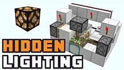 Minecraft: SIMPLE POP OUT HIDDEN LIGHTING! Minecraft Blog Post