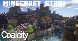 "medieval city ""Coalcity"" Minecraft Map & Project"
