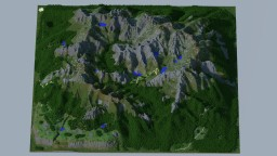 Beautiful Mountains + paths Minecraft Project