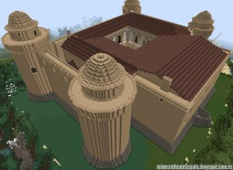 Replica Minecraft of the Castle of La Calahorra, Granada, Spain. Minecraft Project