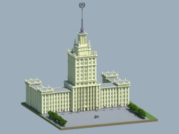 The draft of the Stalin skyscraper Minecraft