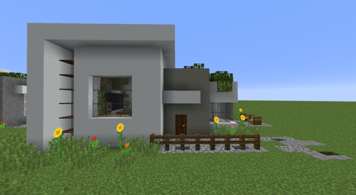 A Modern House - Just look how good the new concrete blocks can be used for modern buildings! Way better than snow or stone.