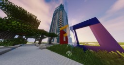 "Skyscraper ""WITNESS"". MODERN SKYSCRAPER Minecraft Map & Project"
