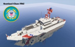 U.S. Coast Guard Sentinel Class Cutter FRC REWORK Minecraft Map & Project