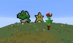Super Mario in Vanilla Minecraft! With MarioKart and statues! 1.11.2 Minecraft Project