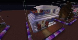 One Chunk Folded Style Modern House Minecraft Project