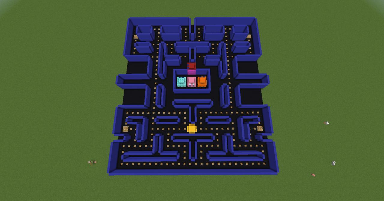 Pac Man Maze Minecraft Project