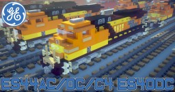 [1.5:1 Scale] GE Evolution series ES44AC / DC / C4 /  ES40DC diesel electric locomotives - BNSF, CSX, NS, UP & more Minecraft Map & Project