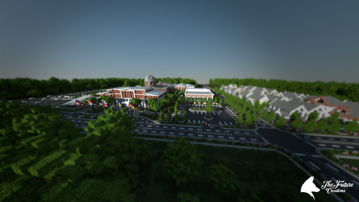 High school with small village [DOWNLOAD] Minecraft Project