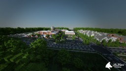 High school with small village [DOWNLOAD] Minecraft