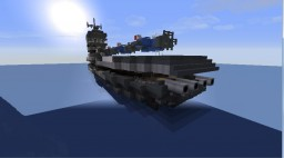 Aircraft Carrier Courageous - Movecraft/Navycraft Minecraft Map & Project