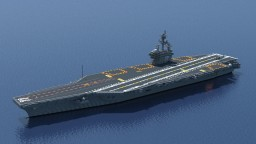 USS George H.W. Bush (CVN-77) 1:1 scale Minecraft Map & Project