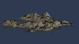 [2k x 2k] Mountainous Island Terrain Minecraft Project