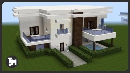Minecraft: How To Build a Modern House / Mansion (Episode 1) Minecraft Project