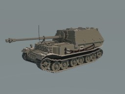 Tank destroyers Ferdinand and Elefant Minecraft Project