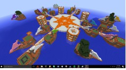 Floating Crafted Island Village Minecraft Project