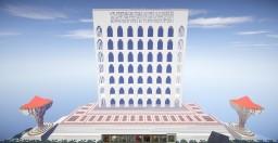 suquare colosseum of rome - palace of italian civilization Minecraft Map & Project