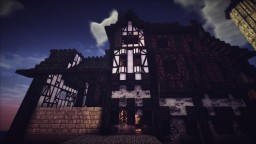 Small and slim medieval fantasy house Minecraft Project