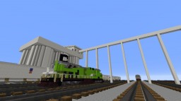 Freight Train Depot: Crypto Railroad Minecraft Map & Project