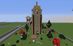 small medieval tower-plot build Minecraft Project