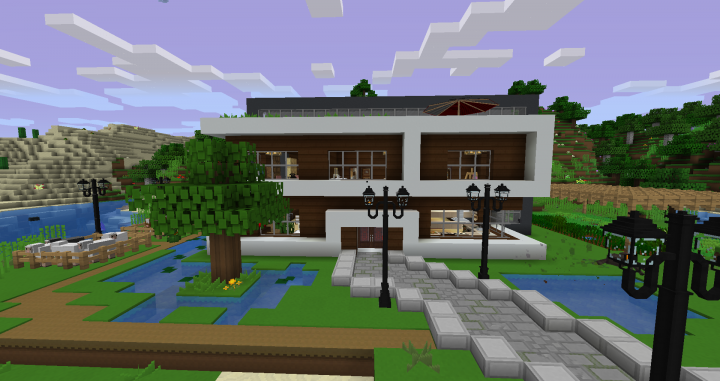 Modern Survival House Minecraft Project
