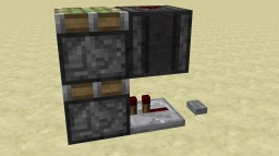 Very Compact vertical double piston extender! Minecraft Project