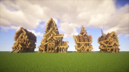 Medieval Houses Schematics Minecraft
