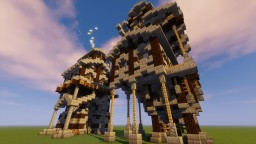 Medieval/Steampunk Crane and Mill House Minecraft Map & Project