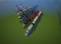 American BiLevel train pack Minecraft Map & Project