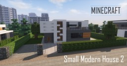 Small Modern House 2 (full interior) Minecraft Project
