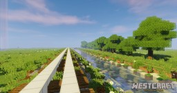 Rails and River Minecraft