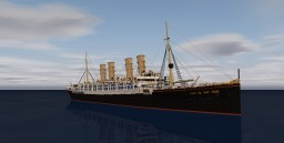 SS Kaiser Wilhelm der Grosse 4:1 ~ 1896 ~ Download Minecraft Map & Project
