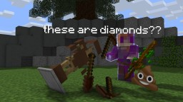 Diamonds to Poop Minecraft Texture Pack