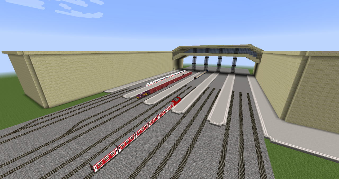Trainstation for Traincraft Minecraft Project