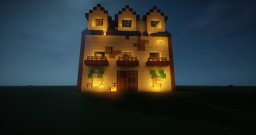 Mungie Hotel on FIRE from Garfield Gets Real Minecraft Project
