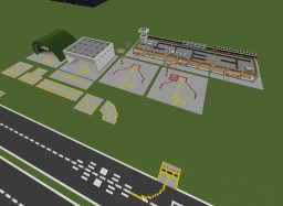 Little costom airport,  DIY airport Minecraft Map & Project