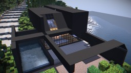 Black Modern House Minecraft Project