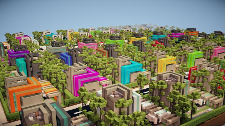 Most stylish residential area in the world or futuristic distopia