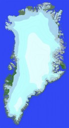 An extreme survival map of the entire island of Greenland scaled 1:75 (20000x36000 blocks) Minecraft Project