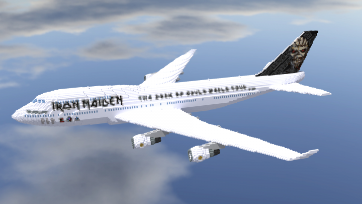 boeing 747 428 iron maiden 39 ed force one 39 4 1 scale minecraft project. Black Bedroom Furniture Sets. Home Design Ideas