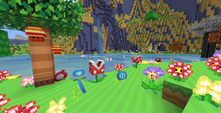 the first image without the logo. look at all of those custom block models!