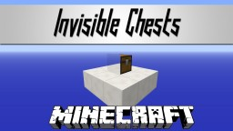 Invisible Chests Minecraft Texture Pack