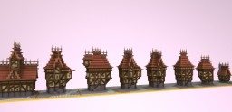 Free To Use Medieval Houses! Minecraft Project