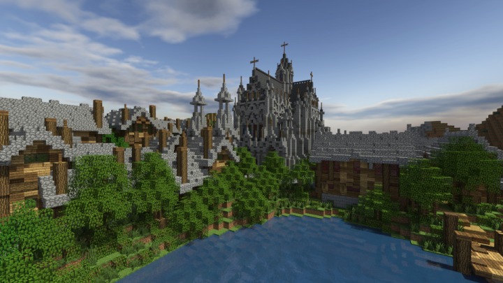 The old cathedral as part of my Village Transformation project.