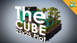 The CUBE - Modern -Minimalist- small plot Minecraft