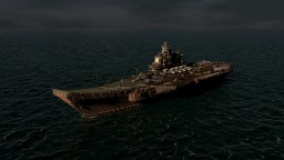 Admiral Kuznetsov Russian aircraft carrier Minecraft Map & Project