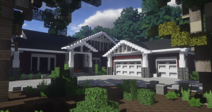 Amazing Traditional House Craftsman Style Minecraft Project Download Free Architecture Designs Osuribritishbridgeorg