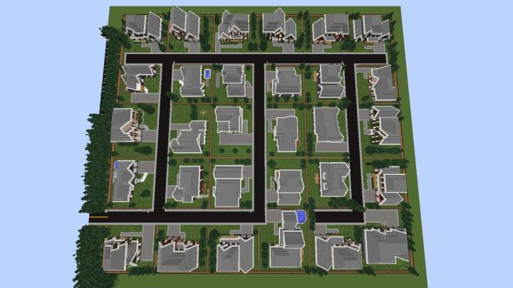 Entire neighborhood complete!