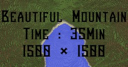 Beautiful Mountain Minecraft Map & Project